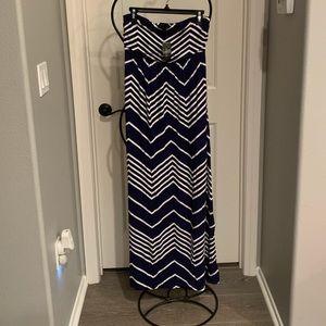 Strapless summer dress